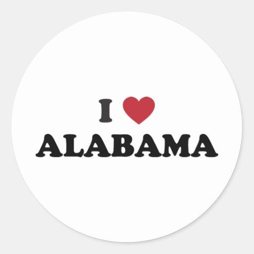 Amo Alabama Pegatina Redonda