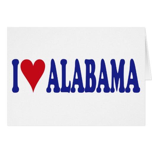 Amo Alabama Tarjeta