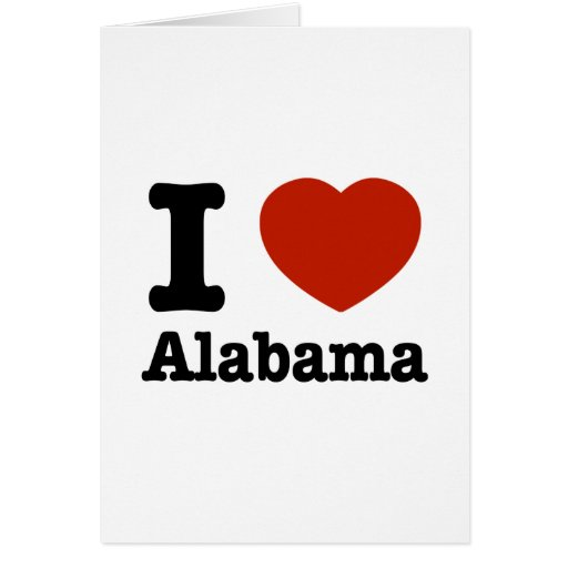 Amo Alabama Tarjeta De Felicitación