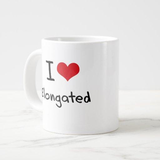 Amo alargado taza extra grande