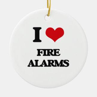 AMO alarma de incendio Adorno Navideño Redondo De Cerámica