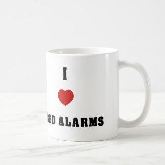 Amo alarmas de la cama taza de café
