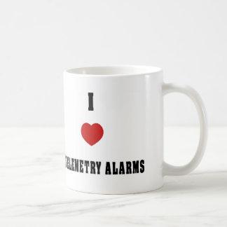 Amo alarmas de la telemetría taza de café