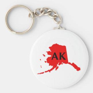 Amo Alaska - AK Llavero Redondo Tipo Pin