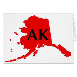 Amo Alaska - AK Tarjeta De Felicitación