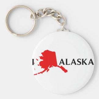 Amo Alaska - amor AK de I Llavero Redondo Tipo Pin
