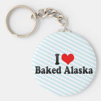 Amo Alaska cocida Llavero Personalizado