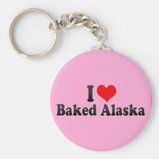 Amo Alaska cocida Llaveros