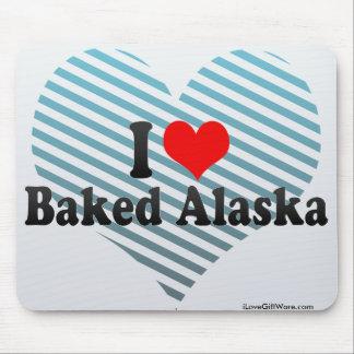 Amo Alaska cocida Tapete De Raton
