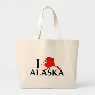 Amo Alaska - estado del amor AK de I Bolsa Lienzo