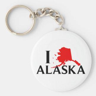 Amo Alaska - estado del amor AK de I Llavero Redondo Tipo Pin