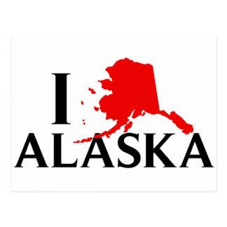 Amo Alaska - estado del amor AK de I Postal