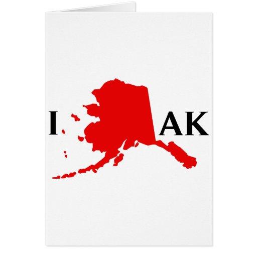 Amo Alaska - estado del amor AK de I Felicitacion