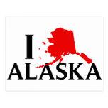 Amo Alaska - estado del amor AK de I Tarjeta Postal