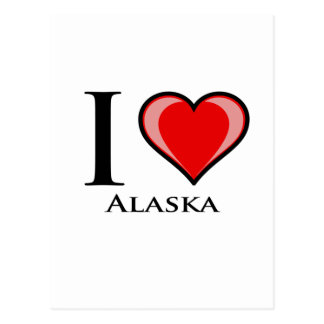 Amo Alaska Tarjeta Postal