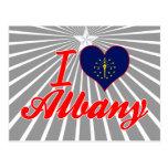 Amo Albany, Indiana Tarjetas Postales