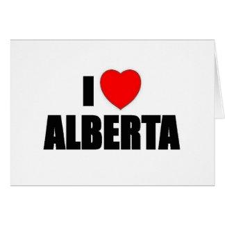 Amo Alberta Tarjeta De Felicitación