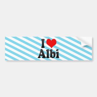 Amo Albi, Francia Pegatina Para Auto