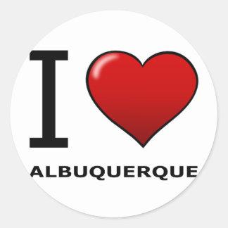 AMO ALBUQUERQUE, NANÓMETRO - NEW MÉXICO PEGATINA REDONDA