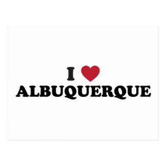 Amo Albuquerque New México Tarjeta Postal
