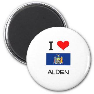 Amo Alden Nueva York Imán Redondo 5 Cm