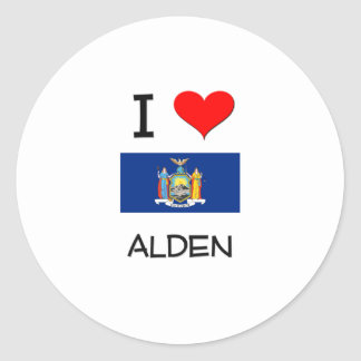 Amo Alden Nueva York Pegatina Redonda