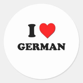 Amo alemán etiqueta redonda