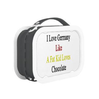 Amo Alemania como un chocolate de los amores del
