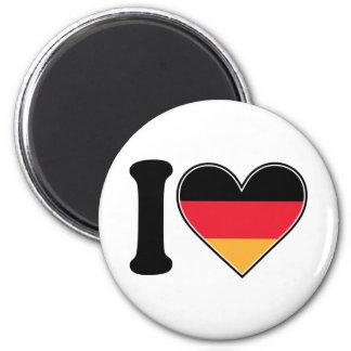Amo Alemania Imán Redondo 5 Cm