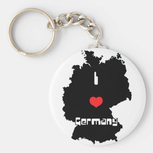 Amo Alemania Llavero Redondo Tipo Pin
