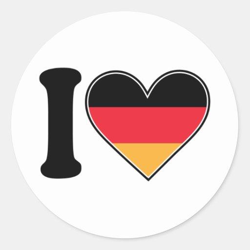 Amo Alemania Pegatinas Redondas