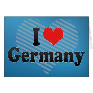Amo Alemania Tarjeta De Felicitación