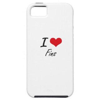 Amo aletas iPhone 5 carcasas