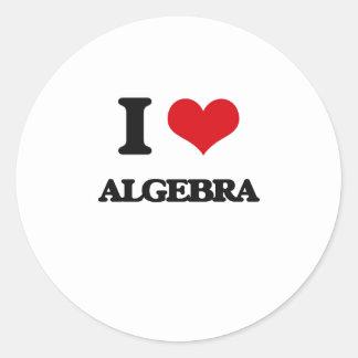 Amo álgebra pegatina redonda