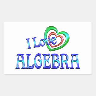 Amo álgebra pegatina rectangular