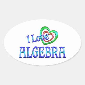 Amo álgebra pegatina ovalada