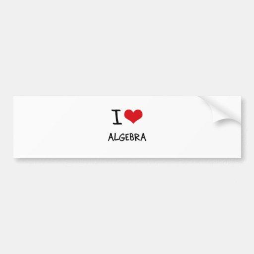 Amo álgebra pegatina para auto