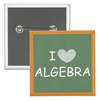 Amo álgebra pin cuadrada 5 cm