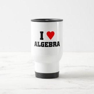 Amo álgebra taza de viaje
