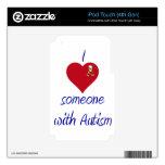 Amo alguien autismo de w iPod touch 4G calcomanías