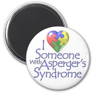 Amo alguien con Asperger Imán Redondo 5 Cm