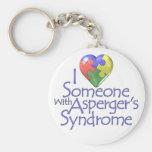 Amo alguien con Asperger Llavero Personalizado