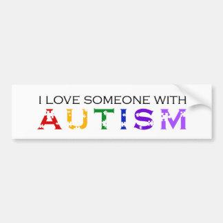 Amo alguien con autismo pegatina de parachoque