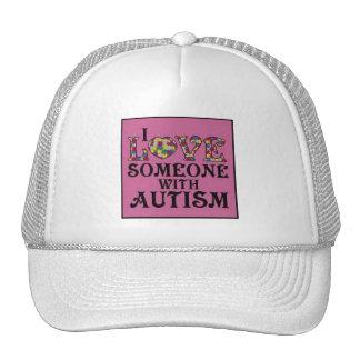 """""""Amo alguien con autismo """" Gorros"""