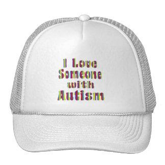 Amo alguien con autismo gorras de camionero