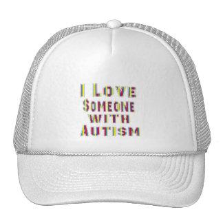 Amo alguien con autismo gorro