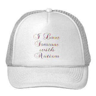 Amo alguien con autismo gorras