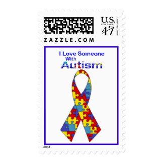 """""""Amo alguien con autismo"""" (las letras del Estampilla"""