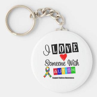Amo alguien con autismo llaveros personalizados