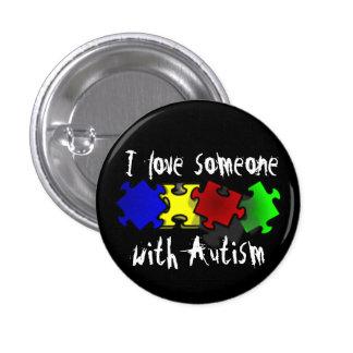 Amo alguien con el botón del autismo